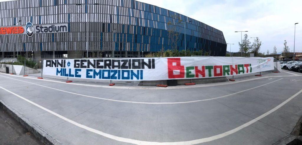 striscione di Bergamo