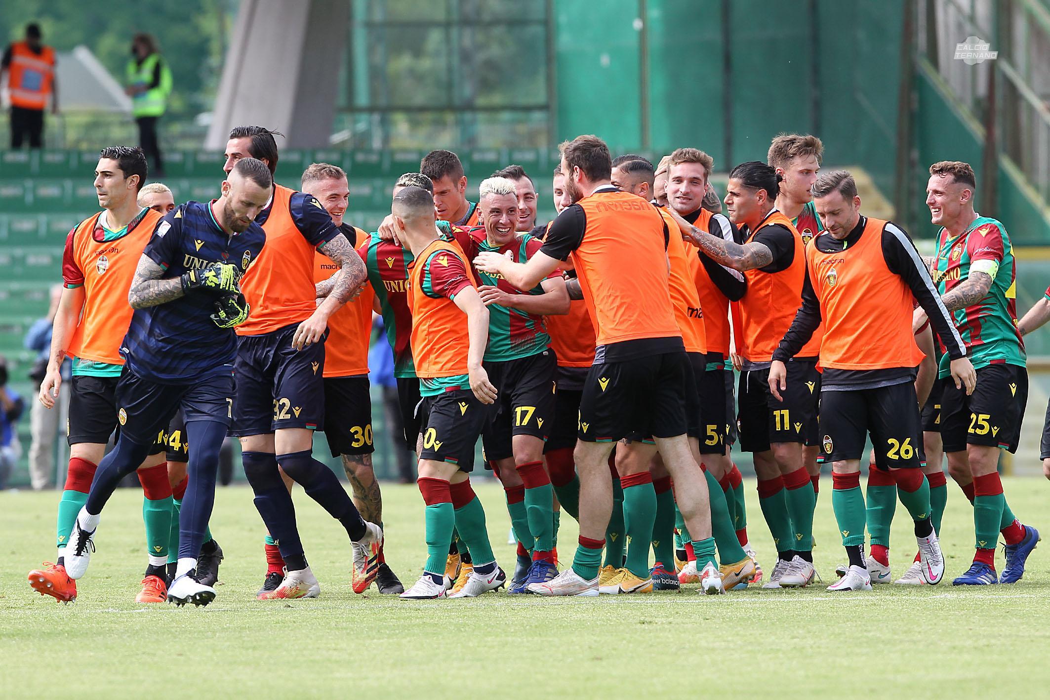 Ternana-Perugia gol salzano